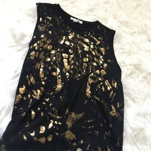 Gold Leopard Top